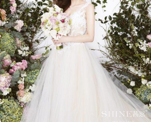 Jane Zhang posa in abiti da sposa per Brides gennaio 2017