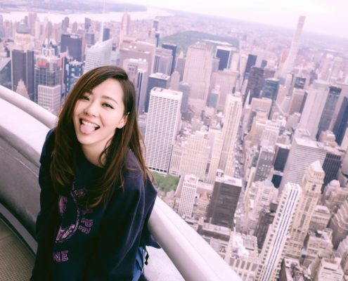 Jane Zhang sull'Empire State Building