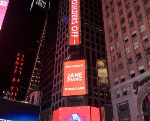 Dust My Shoulders Off: le pubblicità a New York